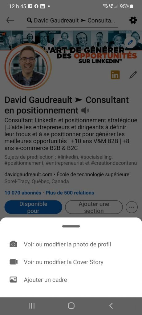 Comment créer une Cover Story sur LinkedIn - par David Gaudreault