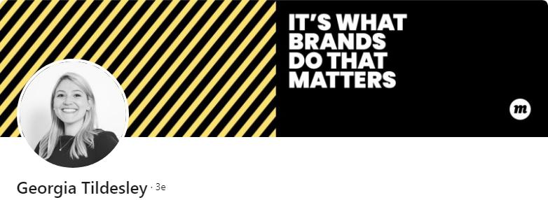 Georgia Tildesley - 50 bannières LinkedIn aux designs exceptionnels pour vous inspirer