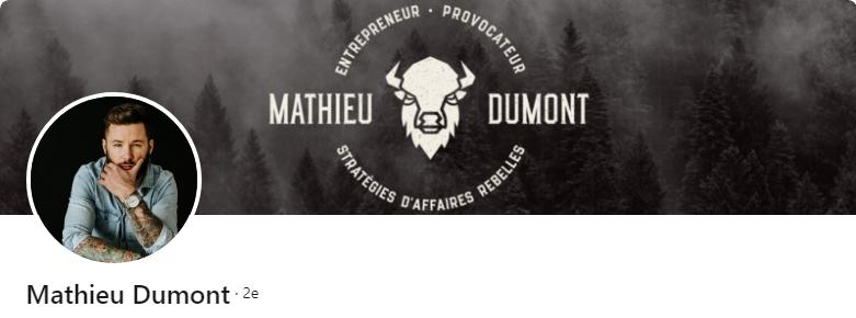 Mathieu Dumont - 50 bannières LinkedIn aux designs exceptionnels pour vous inspirer