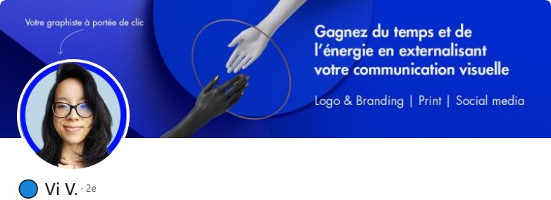 Vi V. - 50 bannières LinkedIn aux designs exceptionnels pour vous inspirer